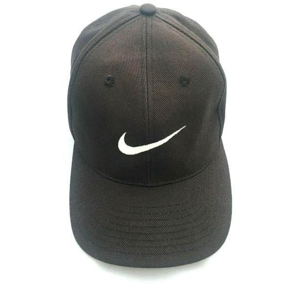 d3441b797 Vintage 1990s Nike Swoosh Snapback Hat Cap Black